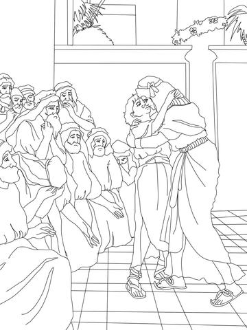 Dibujo de José perdona a sus hermanos para colorear