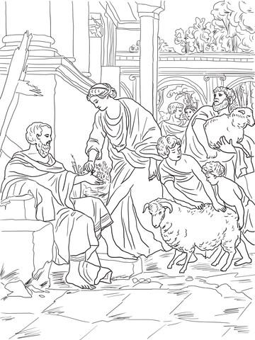 Joshua Bible Coloring Page