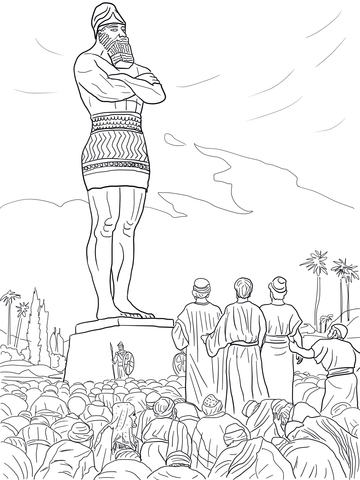 Daniel's Friends Refused to Worship the Statue coloring