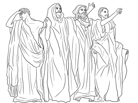Micah, Haggai, Malacchi, and Zechariah coloring page