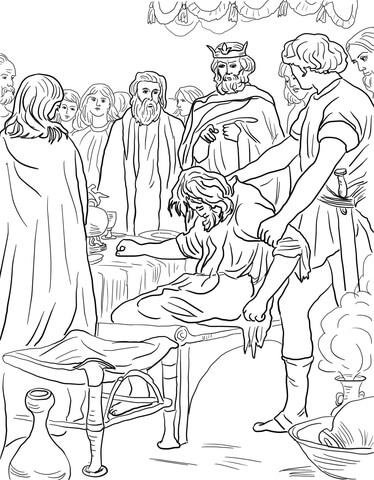 Dibujo de Parábola del Banquete de Bodas para colorear
