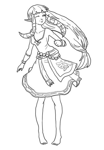 Zelda Spirit Tracks Coloring Pages Coloring Pages