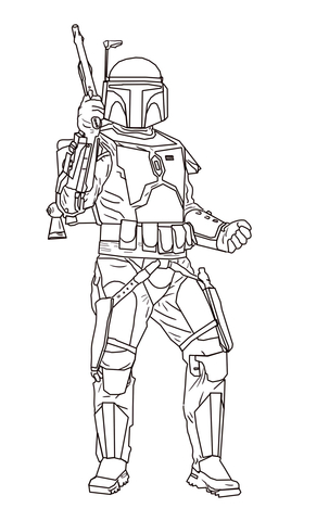 boba fett coloring page # 1