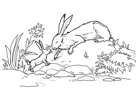 Little Nutbrown Hare and Big Nutbrown Hare Were Down by