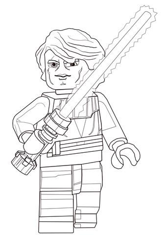 Dibujo de Anakin Skywalker de Star Wars Lego para colorear