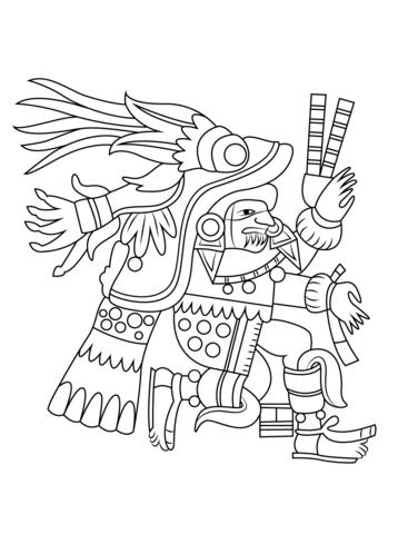 Dibujo De Dios Azteca Quetzalcoatl Para Colorear Dibujos
