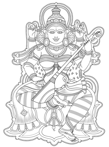 Kerala Mural Coloring Page Free Printable Coloring Pages