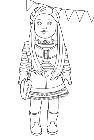 Dibujo de Mckenna de Chica Americana para colorear