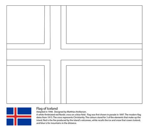 Ausmalbild Flagge Von Island Ausmalbilder Kostenlos Zum