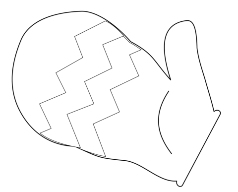 Kolorowanka Rękawiczka z jednym palcem Kolorowanki dla