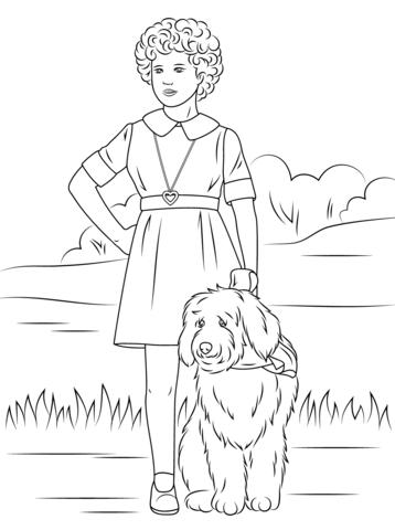 Dibujo de Orphan Annie con One-Lung para colorear