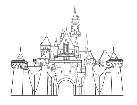Disney Castle Coloring Page Free Printable Coloring Pages