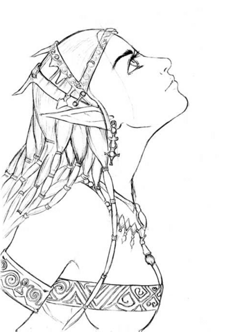 Elf Girl Portrait Coloring Page Free Printable Coloring