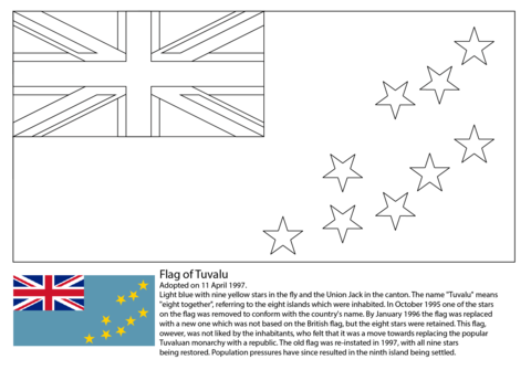 Flag Of Tuvalu Coloring Page Free Printable Coloring Pages