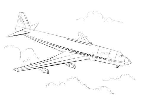 Boeing 777 Plane Coloring Pages