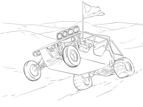 20 Flag Coloring Pages With Dune Buggy Ideas And Designs