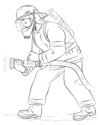 Fireman Coloring Page Free Printable Coloring Pages