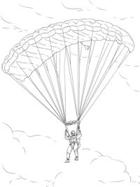Disegno di Paracadute militare da colorare   Disegni da ...