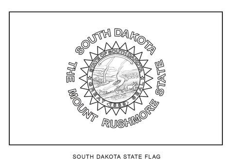 South Dakota Landscape Coloring Page Coloring Pages