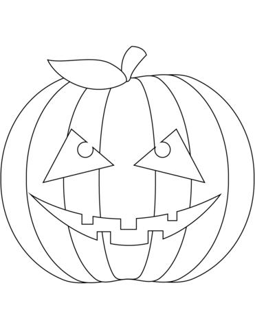 Disegno Di Zucca Di Halloween Spaventosa Da Colorare