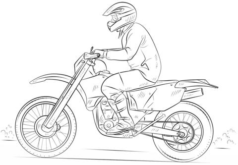 Disegno Di Moto Da Cross Da Colorare