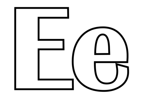 Classic Letter E coloring page | Free Printable Coloring Pages