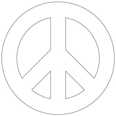 Peace Sign Coloring Sheets Printable Coloring Pages