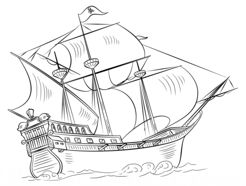 Pirate Ship Coloring Page Free Printable Coloring Pages