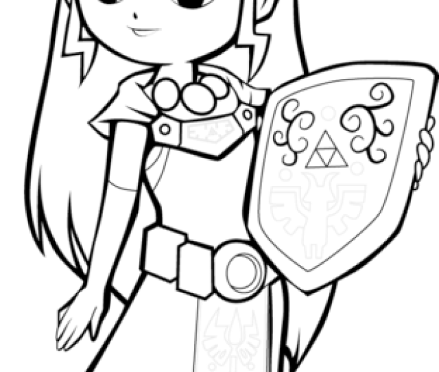 Toon Princess Zelda Coloring Page Free Printable Coloring Pages