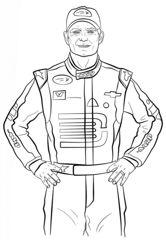Jeff Gordon Coloring Page Free Printable Pages Sketch