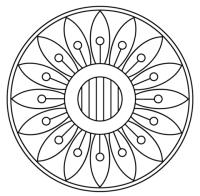 Mandala Floreali Da Colorare Disegno Di Mandala Stella