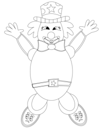 Happy Clown coloring page | Free Printable Coloring Pages