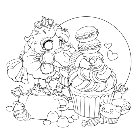 Anime Boy And Girl Friends Coloring Page