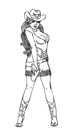 Boot Coloring Pages