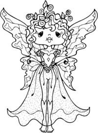 Dibujo de Hada de Pie para colorear