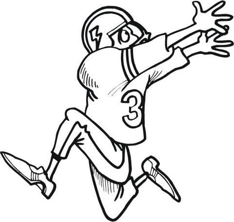 Dibujo de Jugador de Fútbol Americano Corriendo para