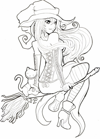 Nightcore Anime Coloring Pages Sketch Coloring Page