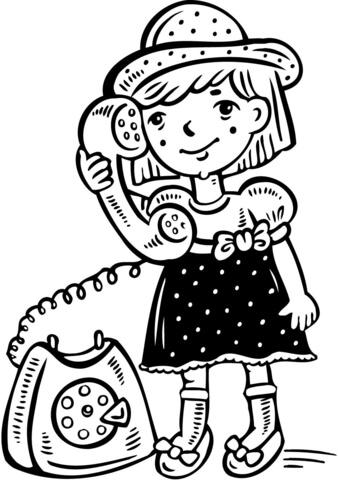 Dibujos De Telefonos. Dibujo De Telfono Inalmbrico Para