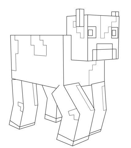 Coloriage Vache De Minecraft Coloriages Imprimer
