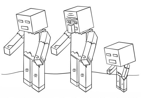 Disegno Di Zombie Di Minecraft Da Colorare