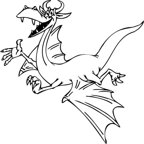 Smiling Dragon Coloring Page Free Printable Coloring Pages