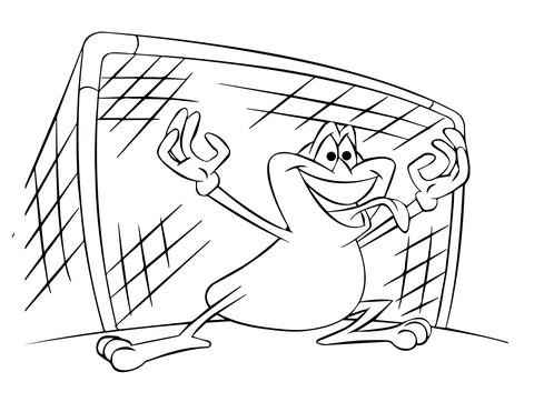 Cozy Ausmalbild Fussball Tormann Frosch Ausmalbilder