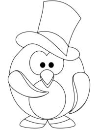 Disegno di Pinguino gentiluomo da colorare   Disegni da ...