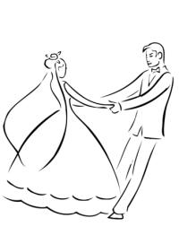 Dibujo de Baile de Recin Casados para colorear | Dibujos ...