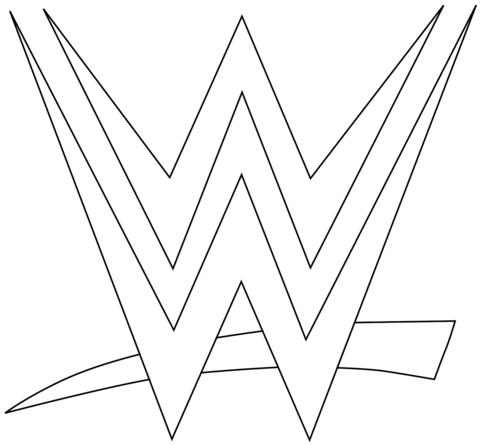 Ausmalbild Wwe Logo Ausmalbilder Kostenlos Zum Ausdrucken
