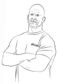 Dibujos De Wwe Para Colorear Dibujo Para Colorear Luchador Wwe