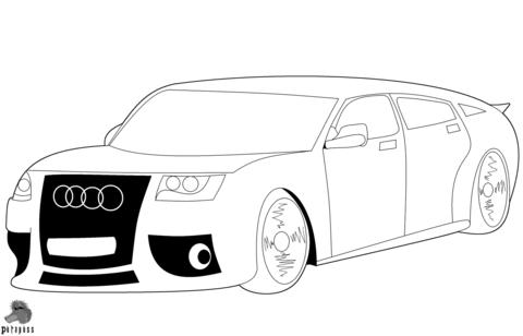 Kleurplaat Audi Q7
