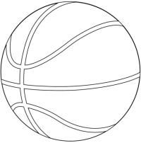 Coloriage - Ballon de basket-ball | Coloriages  imprimer ...