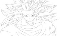 Dibujo de Goku de Bola de Dragn Z para colorear
