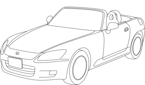 Dibujo de Honda Accord Descapotable para colorear